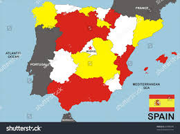 The Flag In Spanish Map Spain Spanish Flag Illustration Stock Illustration 67488340