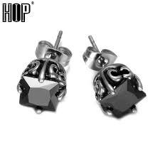 hip earrings hip 1 pair mens stud earrings cool 316l stainless steel