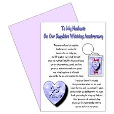 45 wedding anniversary buy 45th wedding anniversary card with removable keyring gift