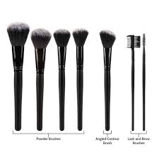 savisto 32 piece make up brush set with professional roll storage