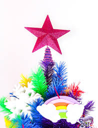 our rainbow lisa frank inspired christmas tree brite and bubbly