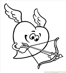 Cupidheart Big Coloring Free Heart Coloring Pages