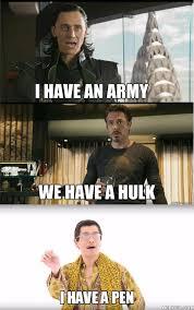 Avengers Meme - avengers i have a pen spoof marvel memes and marvel memes