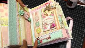baby girl scrapbook album 2015 baby girl mini album scrapbook sold
