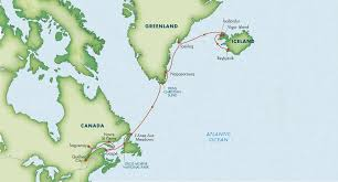 Viking Map Itinerary Path Of The Vikings Reykjavik To Quebec August 2019