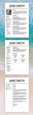 Resume Free Templates Professional Resume Cv And Cover Letter Template Easy To Edit