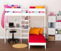 High Sleeper With Sofa And Desk Impressive High Sleeper With Desk And Futon High Sleepers With