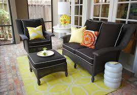 Desig For Black Wicker Patio Furniture Ideas Wondrous Design Black Wicker Furniture Indoor With Cushions