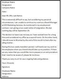 resignationletter help resignationlett on pinterest