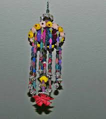 Designs Of Wall Hanging With C D Hanging Craft With Plastic Bottle Old Cloth Bag Aluminium Foil
