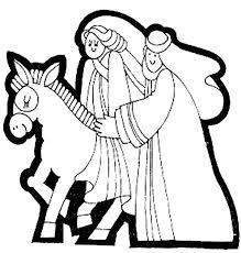joseph mary donkey expecting birth jesus coloring