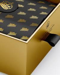 metallic gift box opened metallic gift box mockup half side view box mockups