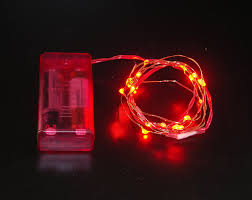 battery powered led christmas lights amazon com battery operated microdot red led lights w copper
