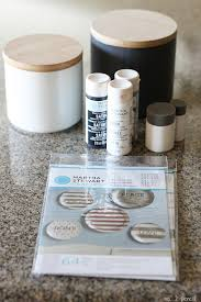 diy stenciled kitchen canisters no 2 pencil