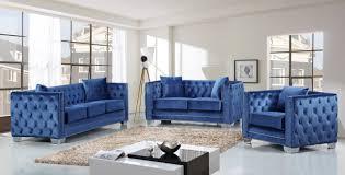 reese 648ltblu sofa in light blue velvet fabric w optional items