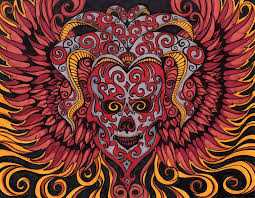 tribal skull marker color comp by dharmajon on deviantart