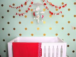 Nursery Decals For Walls by Nursery Polka Dot Wall Decals Ideas