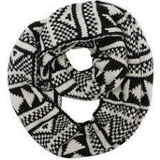 ethnic pattern latvian scarf multicolor infinity scarf wool
