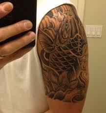 japanese koi fish sleeve and half sleeve tattoos