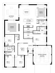 4 bedroom house plans one uncategorized one storey house plans in kenya for 4