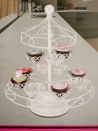 cup cake holder wrought iron white 12 cups cake stand carousel cupcake holder for