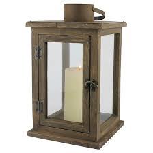 large stonebriar rustic wooden candle lantern ckk home decor