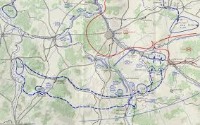 Nancy France Map by 137th Infantry Regiment Moselle River Crossing