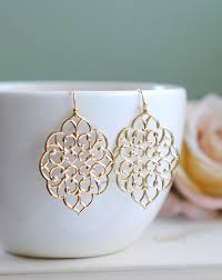 earring dangles large gold filigree earrings boho chic bohemian filigree