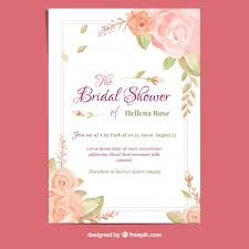 wedding invitations freepik bachelorette card with watercolor roses vector free