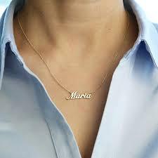 real gold name necklace 14k real gold name necklace personalized necklace gold necklace