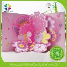 Designs Of Greeting Cards Handmade 3d Pop Up Handmade Flower Valentine Design Greeting Card Buy