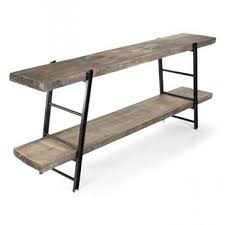 Media Console Tables by Antique Rustic Furniture Reclaimed Wood Industrial Iron Rustic
