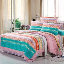 Chevron Bedding Queen Bedroom Multicolored Chevron Bedding Set Decorate With White