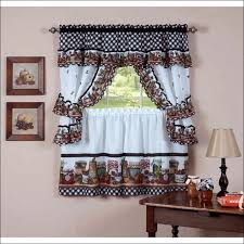 Kitchen Curtains Lowes Kitchen Curtains At Walmart Black Blackout Shades White Blackout