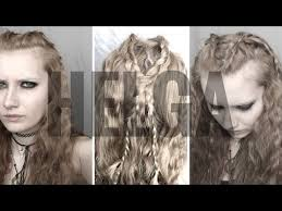 hair styles for viking ladyd helga v i k i n g s hair makeup youtube