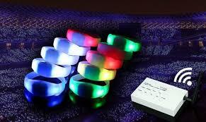 bracelet led images Remote control led bracelets jpg