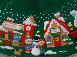 bucilla christmas bucilla tree skirt christmas design