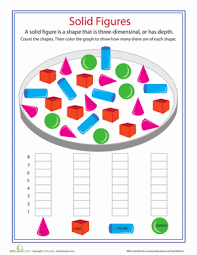 shape dimensions solid figures worksheets math and dimensional