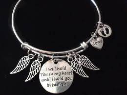 Infant Loss Gifts Angel Wings I Will Hold You In My Heart Until I Can Hold You In