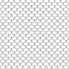 vector modern seamless geometry pattern scales black and white