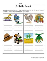 syllable worksheets have fun teaching