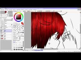 paint tool sai técnica para efectos de cabello anime tutorial