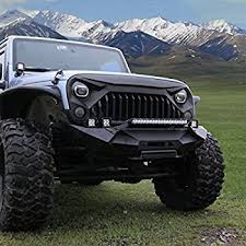 black and turquoise jeep amazon com opar matte black front gladiator vader grille for 2007