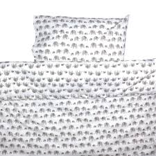 grey elephant toddler cot bed duvet set by lulu and nat