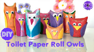 toilet paper roll owls easy u0026 adorable youtube