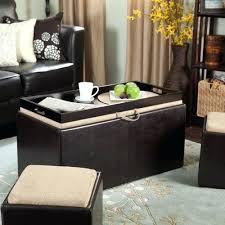 leather tray top ottoman fancy ottoman with tray on top drake 3 piece faux leather tray top