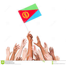 Eritrean Flag People Reaching For The Flag Of Eritrea Stock Image Image 39119381
