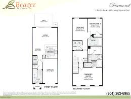 floor plans for 2 homes stonefield at bartram park townhomes and courtyard homes in