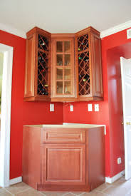 Kitchen Wine Rack Cabinet by Wooden And Metal Combo Corner Wine Rack Cabinet Decofurnish