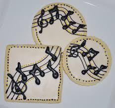 the preppy chef music themed cookies